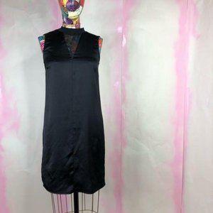 ASOS High Neck Sleeveless Mesh Cut Out Shift Dress